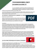 PROYECTO DE INIVACION SOBRE EL COVID 19