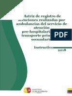 INSTRUCTIVO PARA LLENADO DE MATRIZ  APH 120418