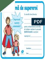 Supereroi ai scolii de acasa - Diploma 1