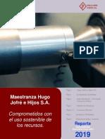 REPORTE SUSTENTABILIDAD MAESTRANZA JOFRÉ 2019