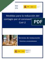 Protocolo Español COVID-19 para Restaurantes