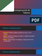 Ejemplos de Jerarquización de Valores