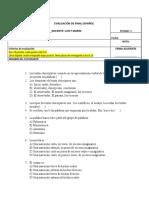 Evaluacion 7 segundo periodo