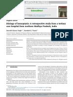 Etiology of hemoptysis A retrospective study from a tertiary care centre MP