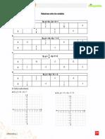 Ficha complementaria 1° medio unidad Álgebra y funciones. Relaciones entre dos variables