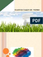 Energy Initiatives Taken by Wipro