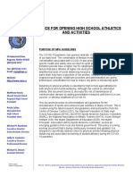 MPA Guidance for Opening High School Athletics and Activities