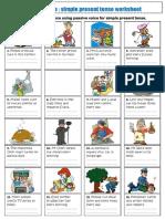 passive voice simple present tense esl exercises worksheet to print