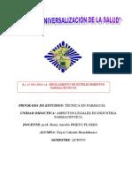 DECRETO SUPREMO N° 014-2011-SA REGLAMENTO DE ESTABLECIMIENTOS FARMACÉUTICOS