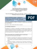 Guía de actividades y Rúbrica de evaluación - Etapa 2 – Design Thinking- ¿Conoces tu entorno_