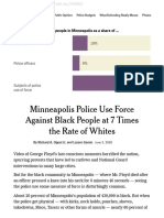 minneapolis police use force against black people at 7 times the rate of whites - the new york times