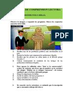 ACTIVIDAD DE COMPRENSION LECTORA 10ª 9 DE JUNIO