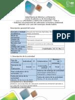 Guía de Actividades y Rúbrica de Evaluación - Tarea 4 - Elaborar Una Propuesta de Valoración Económica Ambiental Aplicada