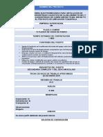 Formato de solicitud de contratación COMUNIDADES