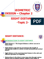 TOPIC 2- sight distance