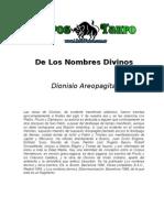 Dionisio Aeropagita de Los Nombres Divinos