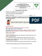 #10 TALLER DE REFUERZO CIENCIAS NATURALES 2°P 19-06-2020