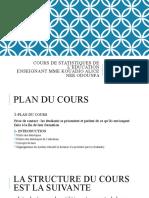 COURS DE STATISTIQUE  DE L'EDUCATION V090220
