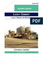 Lucky Cement Ltd. Detail Report WE Financial Services Ltd. August 2010