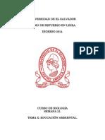 Tema 22 - Educación Ambiental