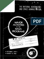 Major Activities in NASA Programs October 1, 1959 - March 31, 1960