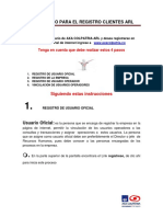 Instructivo de registro página web AXA COLPATRIA ARL