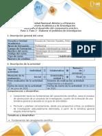 Guía de actividades y rúbrica de evaluación - Paso 2 - Elaborar el problema de Investigación.doc