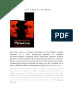 Anaslisis Junguiano de Persona de Bergman - JUAN CARLOS ALONSO.docx