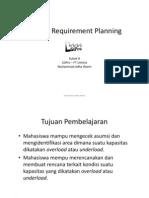 Kuliah 8 - Capacity Requirement Planning