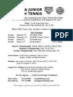 BNCTA Junior Team Tennis League 2011