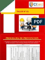 Taller N° 01 - Programa de Prevención