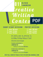 21st annual Al Landwehr Creative Writing Contest