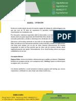 Cotizacion-  pagina web