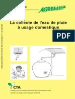 La Collecte de l Eau de Pluie a Usage Domestique AGRODOK