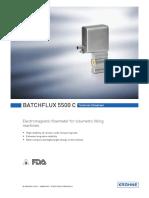 Flow meter BATCHFLUX5500C