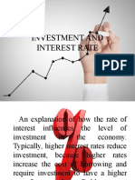INVESTMENT AND INTEREST RATE