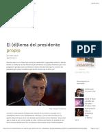 El (di)lema del presidente propio – Revista Kamchatka