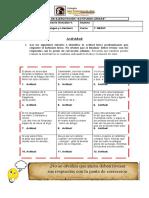 1º Medio - Lenguaje - Ficha Actitudes L - Clase 5