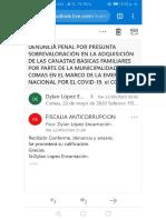 Cargo, Correo, Denuncia Penal - Canastas Básicas Familiares Comas 22 May 2020 - CARPETA FISCAL N.° 118-2020