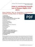 CSS Essay _ War on Terrorism is Contributing towards Growing Abuse of Human Rights