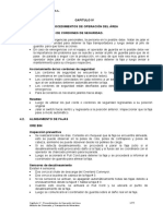 CAPITULO IV - Procedimiento de Operación Del Area -CH