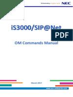 OM Commands Manual (MML)