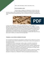 LA TIERRA COMO MATERIAL PARA CONSTRUCCION