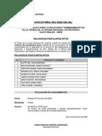 CONCURSO PÚBLICO PARA LA SELECCIÓN Y NOMBRAMIENTO DE EL/LA JEFE(A) DE LA ONPE