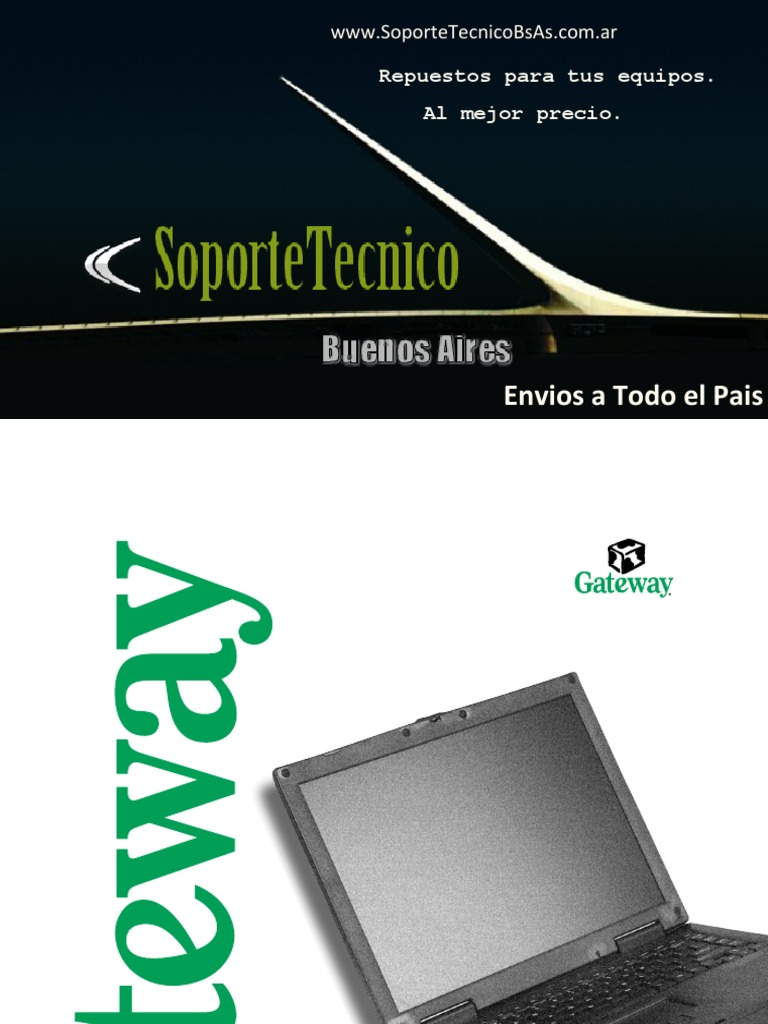 Gateway solo 1450 laptop user manual & restoration drivers.