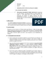 Demanda Ejecucion de Letra de Cambio Milagros Perez