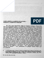 CARTA ABERTA A ALBERTO DE OLIVEIRA & RESPOSTA A MÁRIO DE ANDRADE
