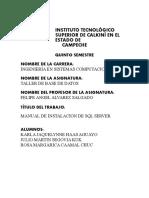 MANUAL DE INSTALACION DE SQL SERVER