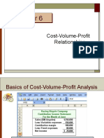 W11-12 Cost-Volume-Profit  Relationships