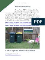 Crimes Against Nature in Australia - Pangaea Defence Force (PDF) 2018